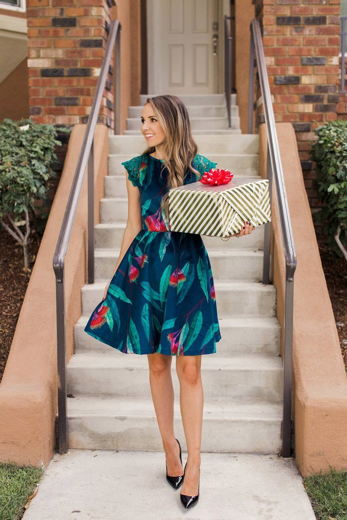 a bold holiday dress with Spoonflower's new Celosia velvet fabric