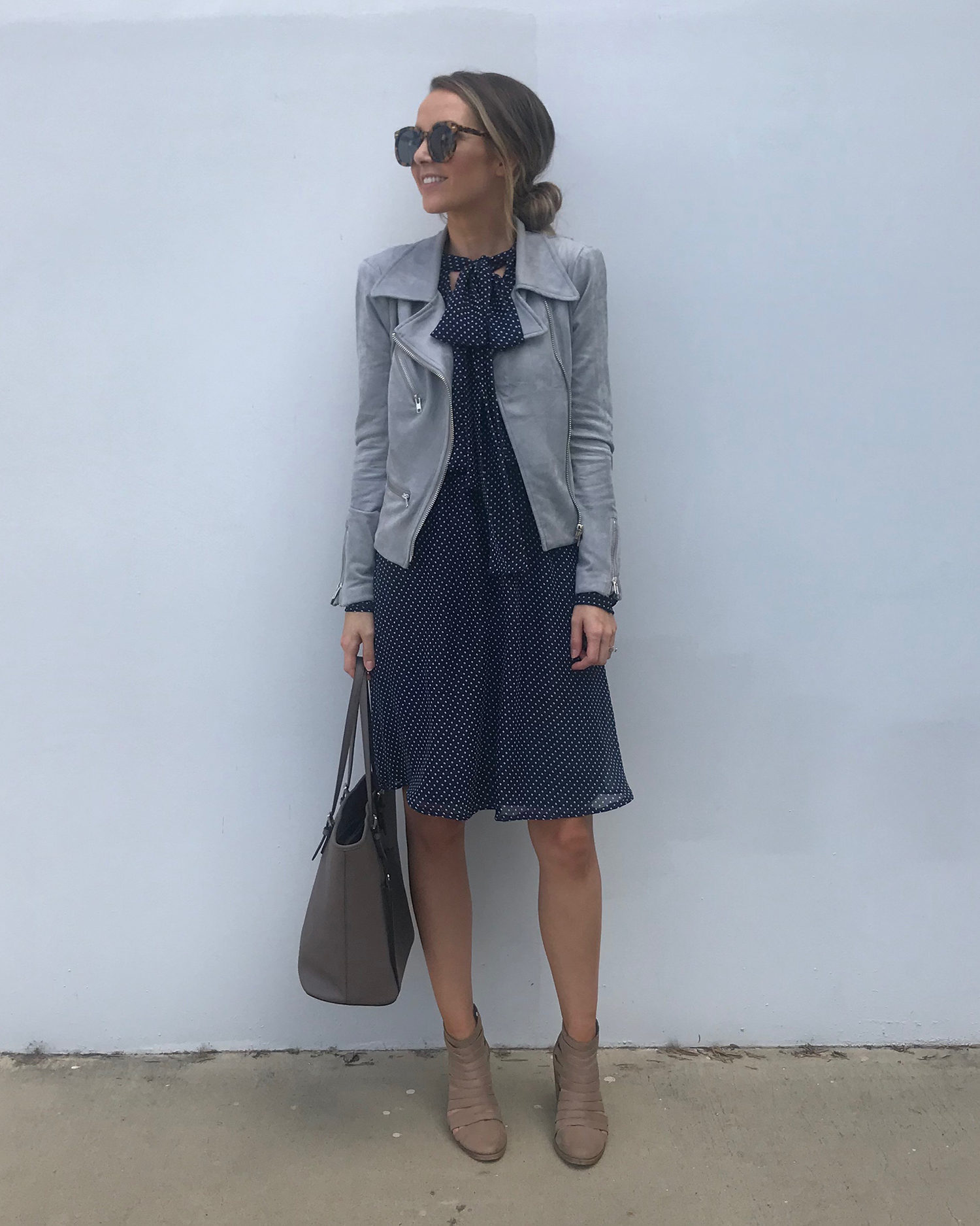 suede jacket and dress | merricksart.com