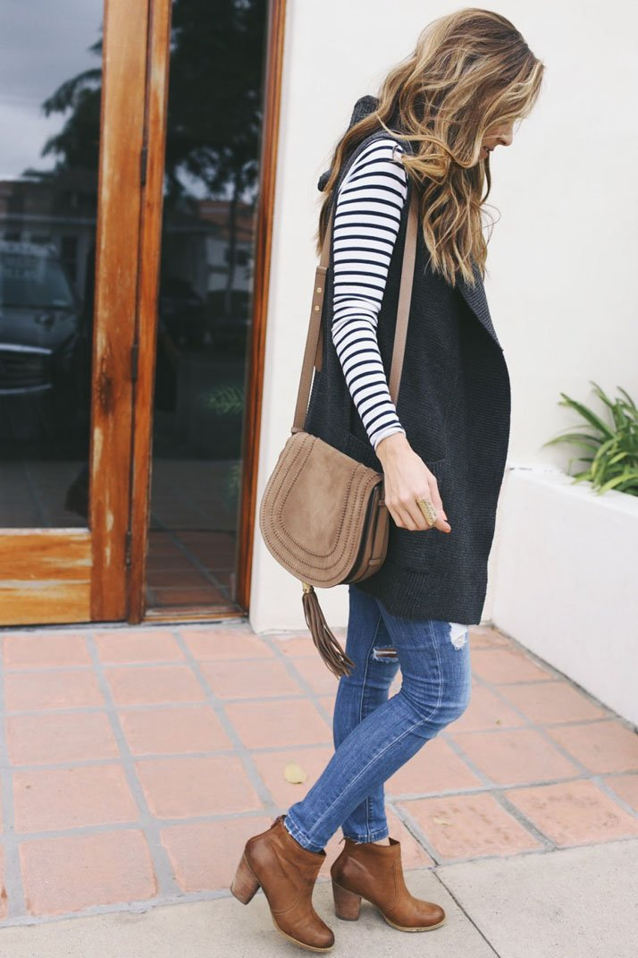 a vest is an easy layer for fall