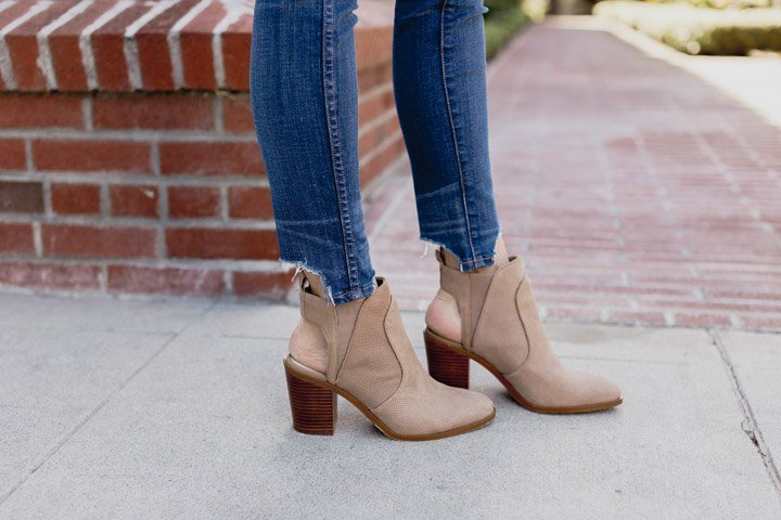 madewell jeans with 1State Ankle Boots