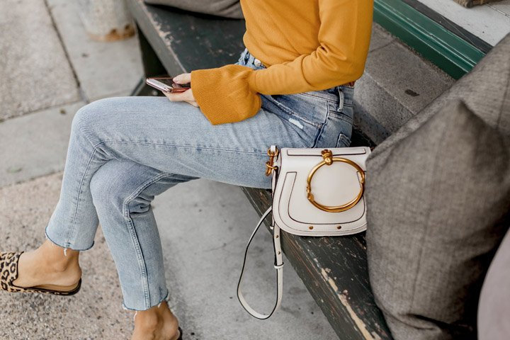 white chloe dupe bag