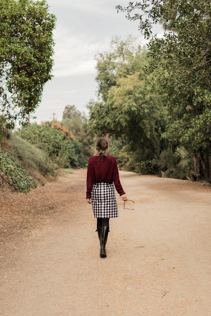 step by step directions to make this buffalo plaid skirt