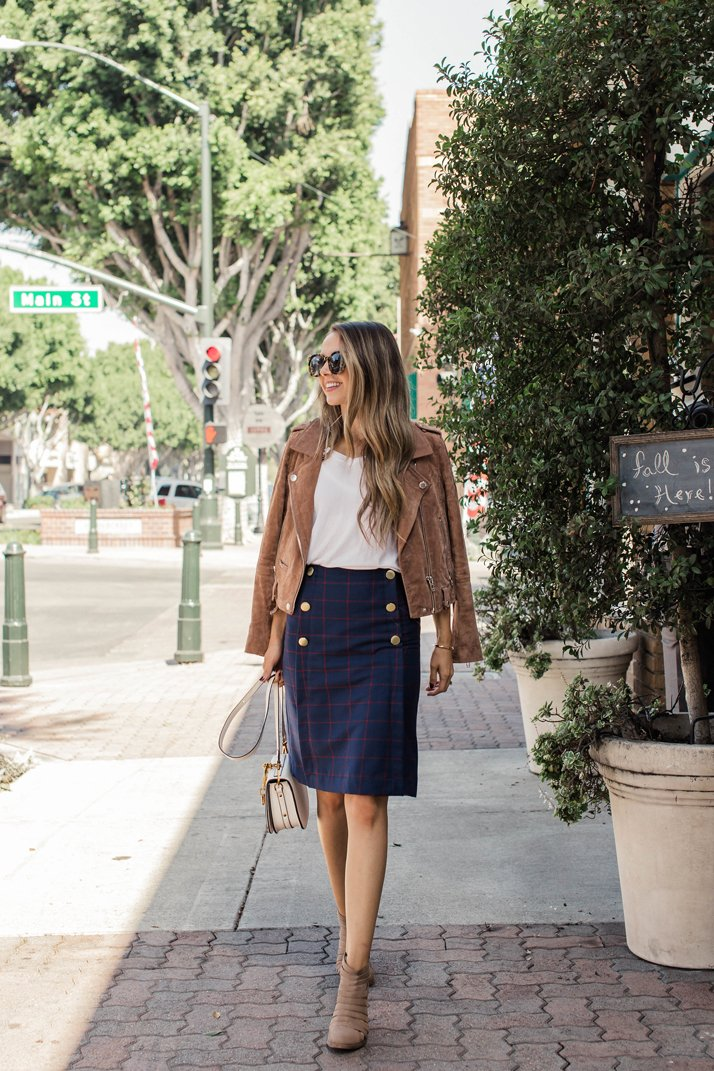 DIY Friday: A-Line Plaid Skirt with Gold Buttons | Merrick's