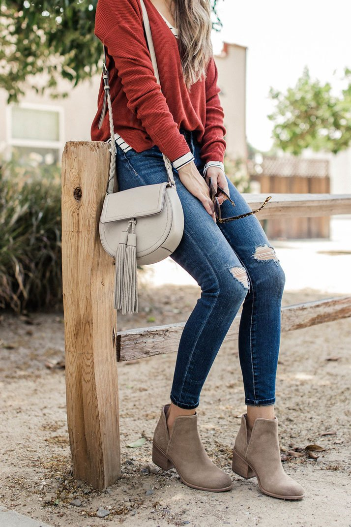 easy layers and ankle boots