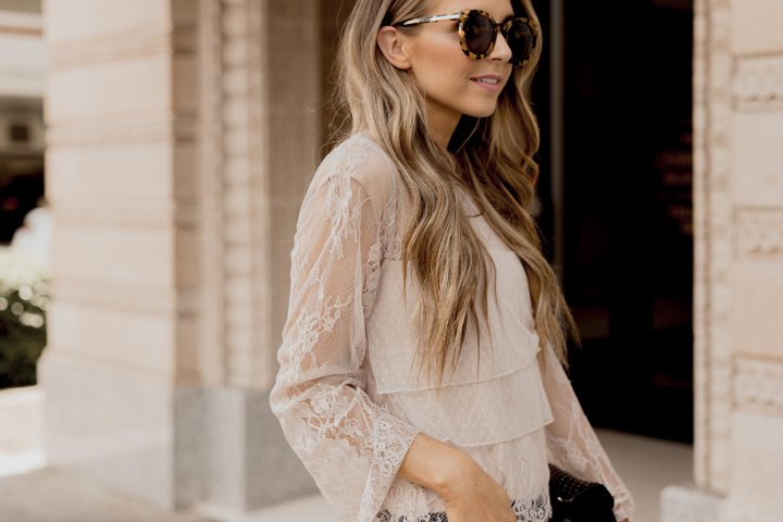 the prettiest delicate lace top from American Eagle