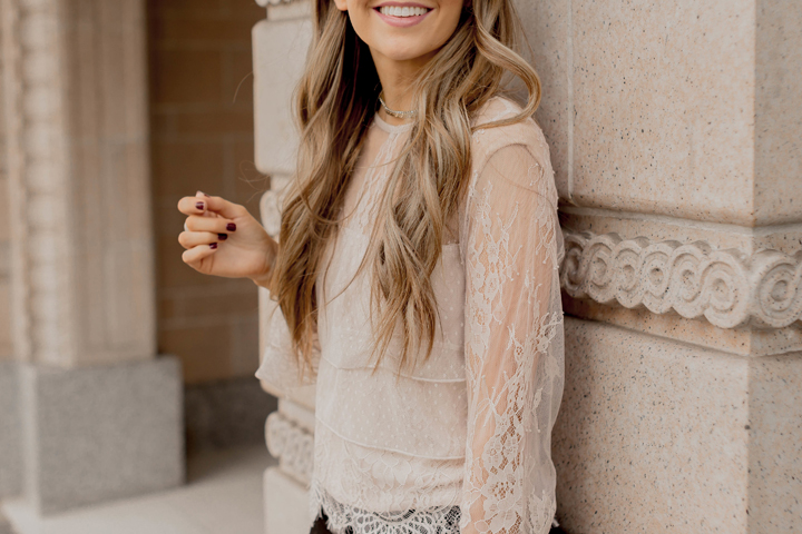 the prettiest lace blouse