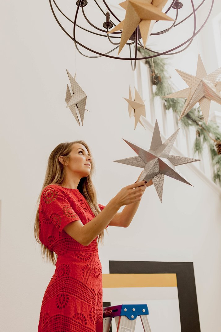 how to make hanging paper stars