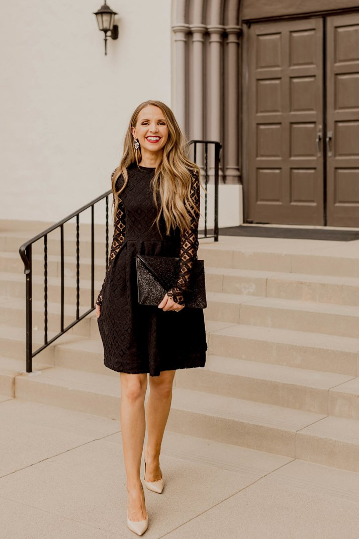 how to make a lace little black dress for the holidays