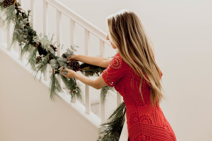 hanging garland in your home