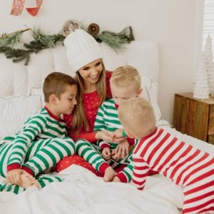 red and green christmas pajamas