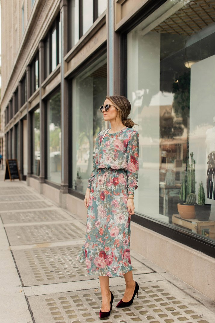 The prettiest fall dress under $30!