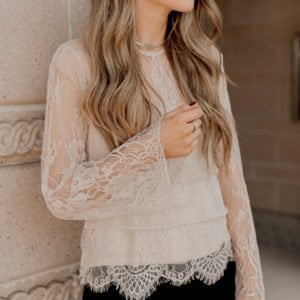 lace blouse for christmas