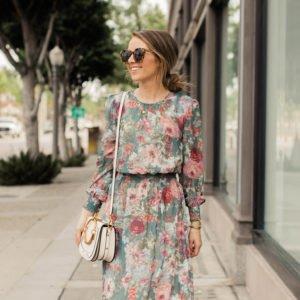 Floral dress under $30!