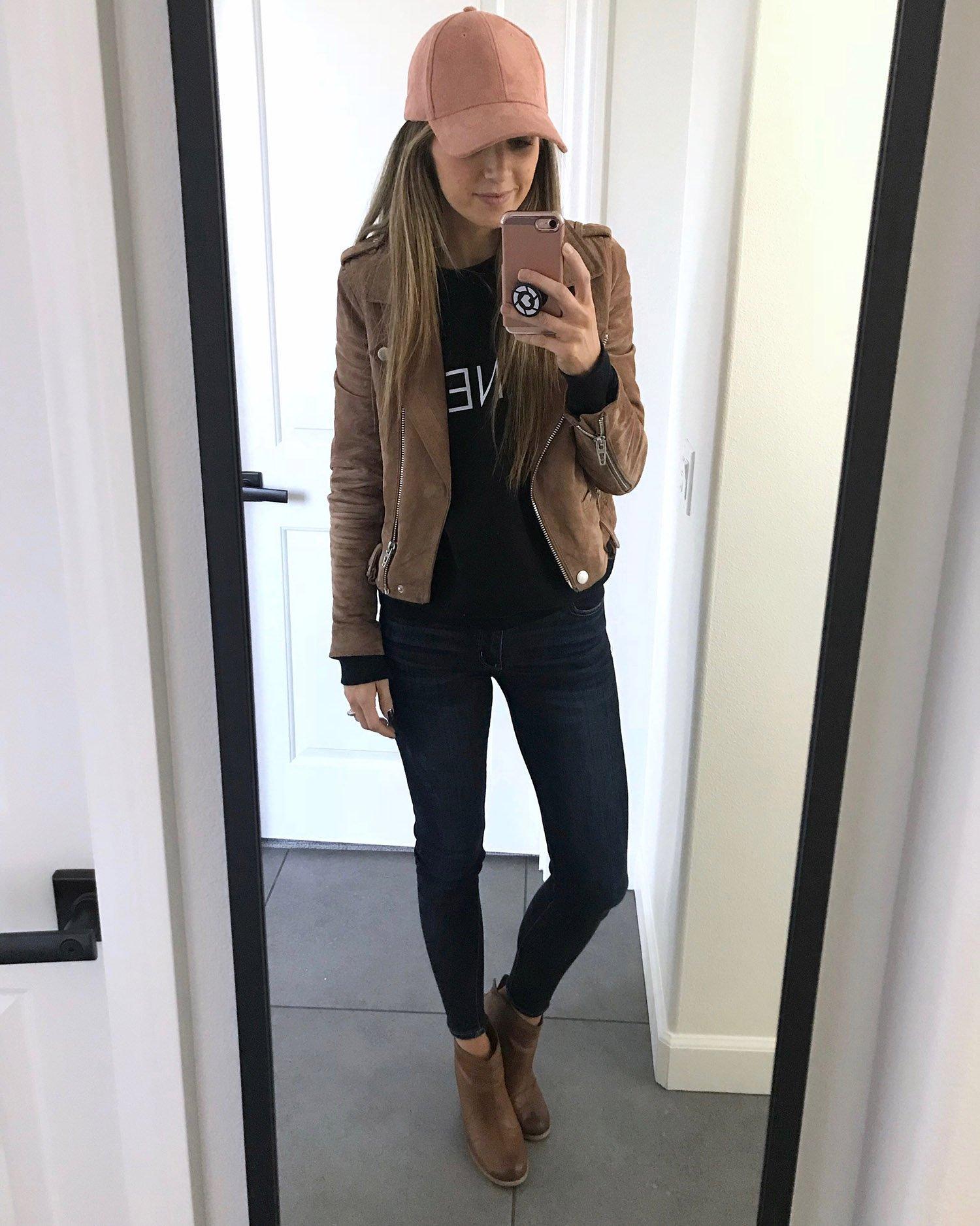 suede jacket and jeans | merricksart.com