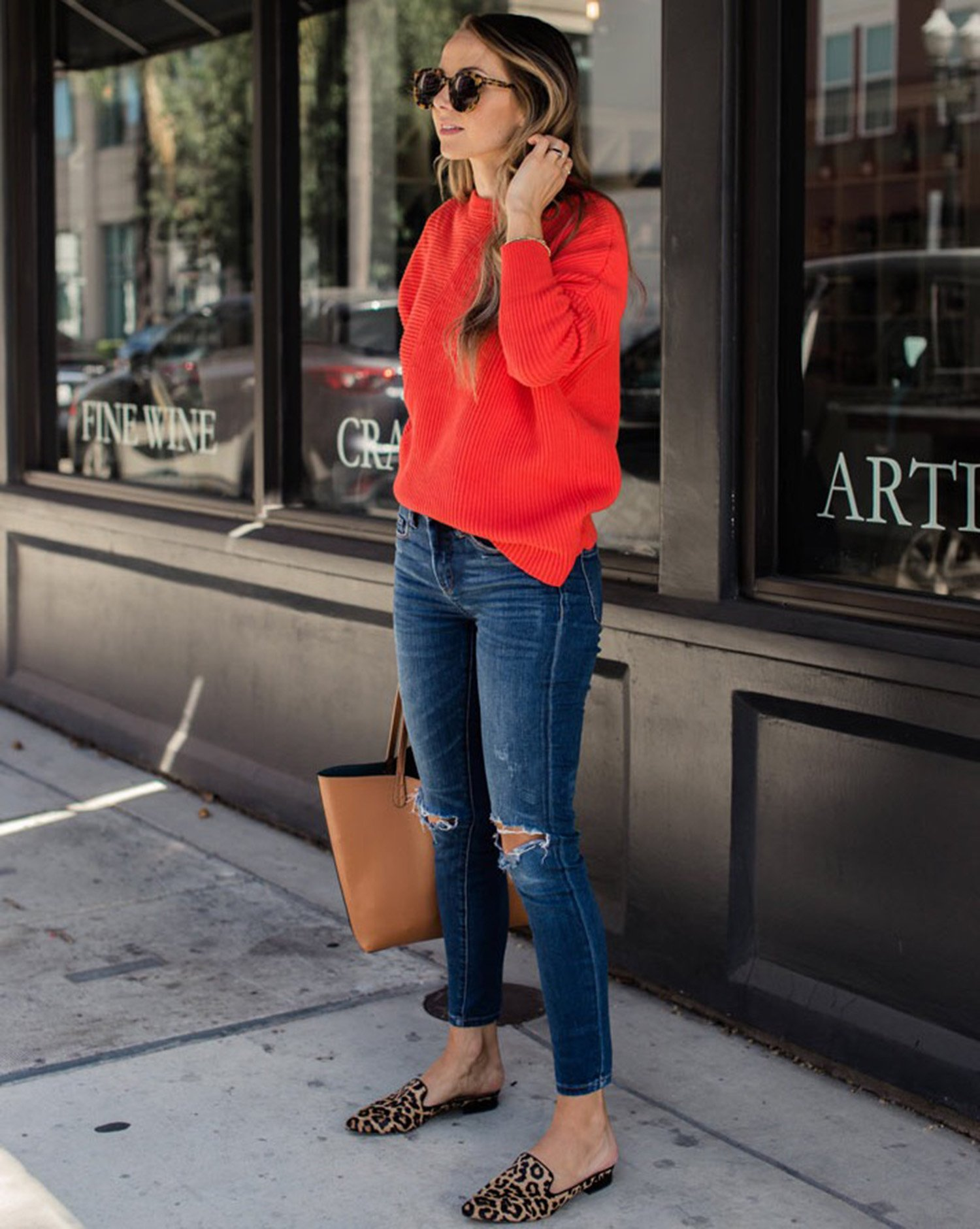 chunky knit sweater | merricksart.com