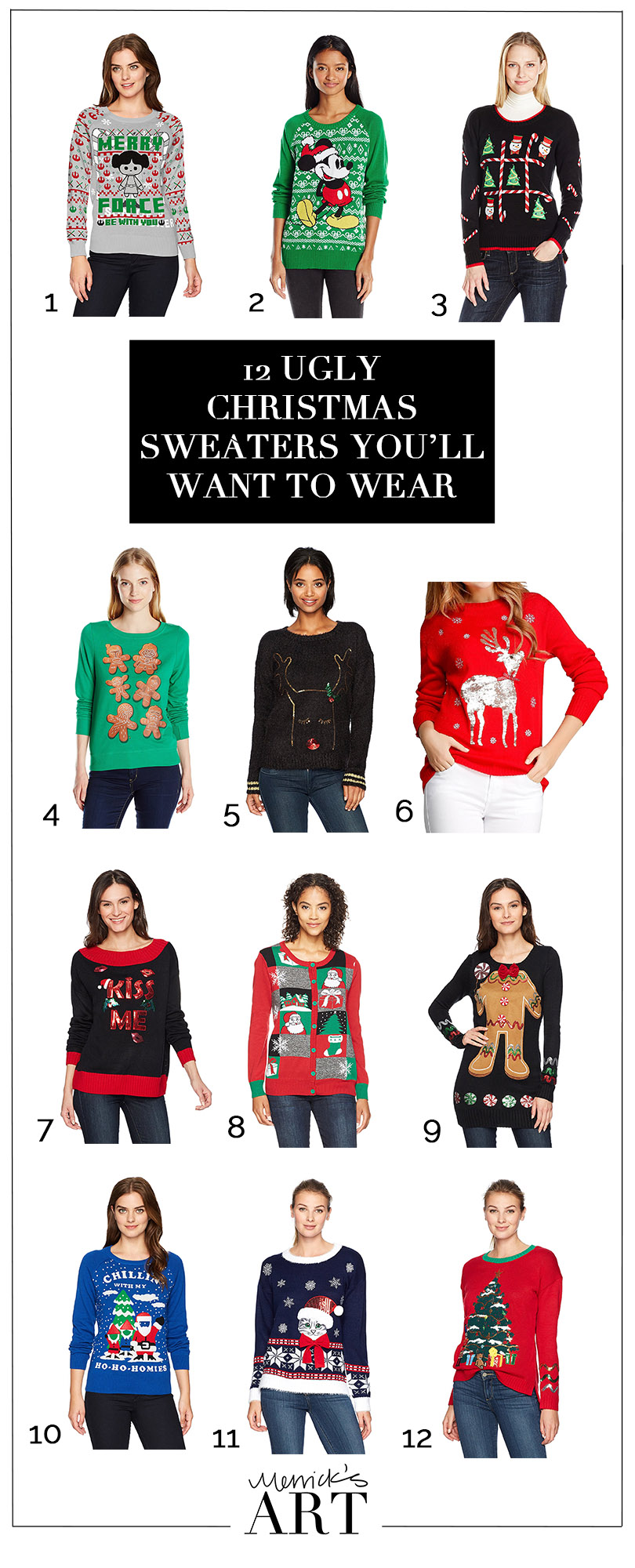 12 Ugly Christmas Sweaters You\'ll Actually Want to Wear | Merrick\'s ...