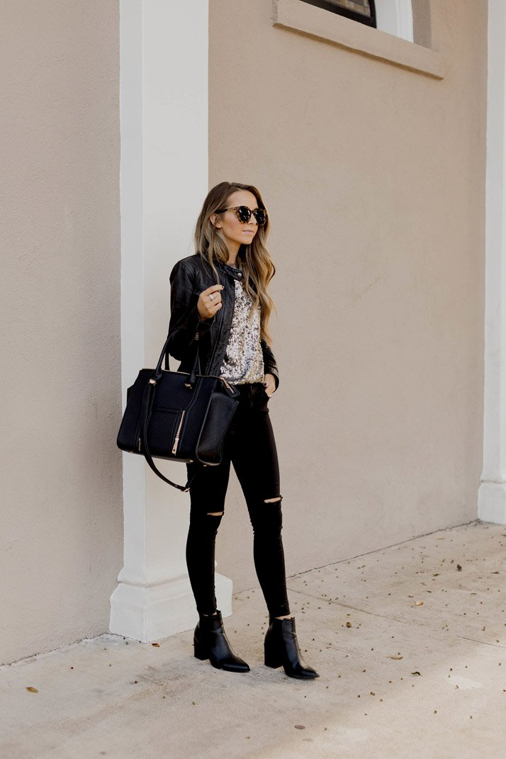 black jeans and black boots