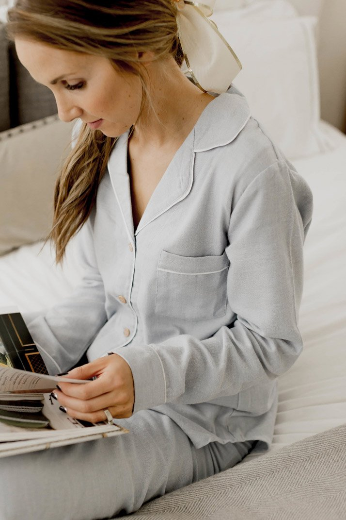 beautiful and feminine pajama set from ugg australia