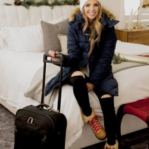 a cozy coat and boots for a snowy getaway via ebay