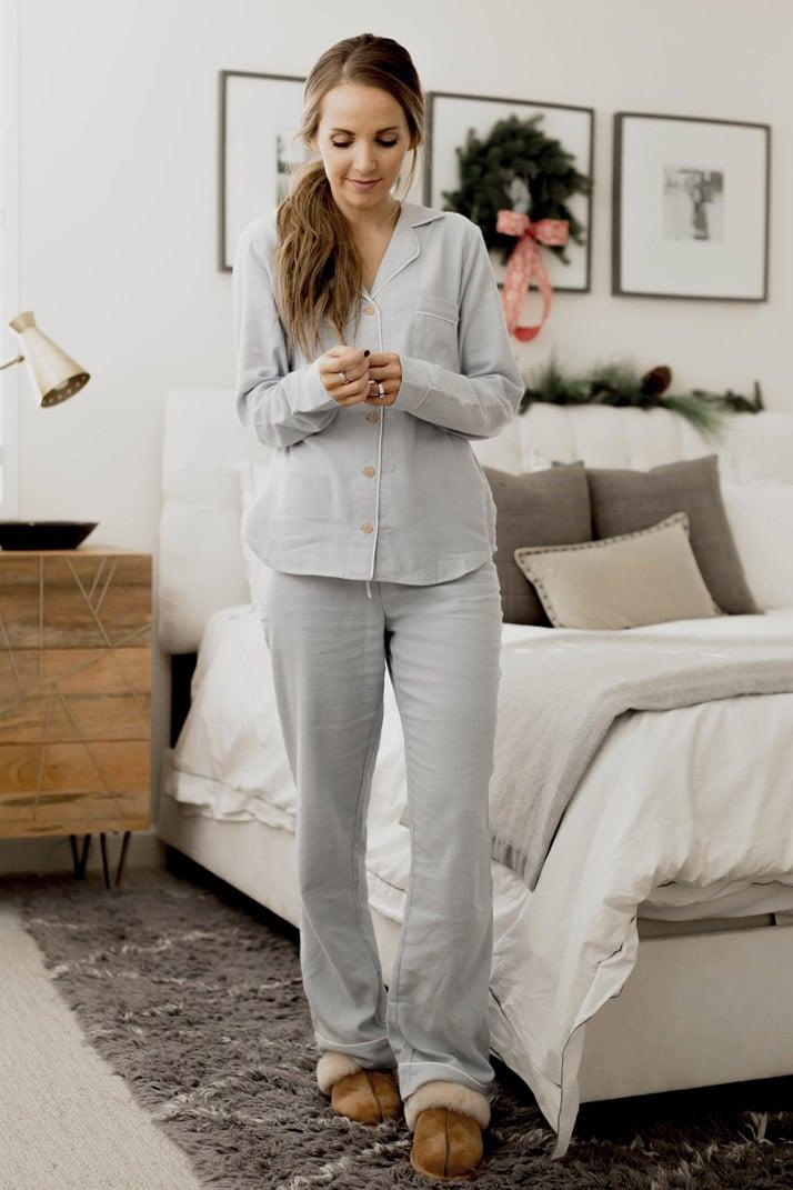 ugg australia light blue pajama set