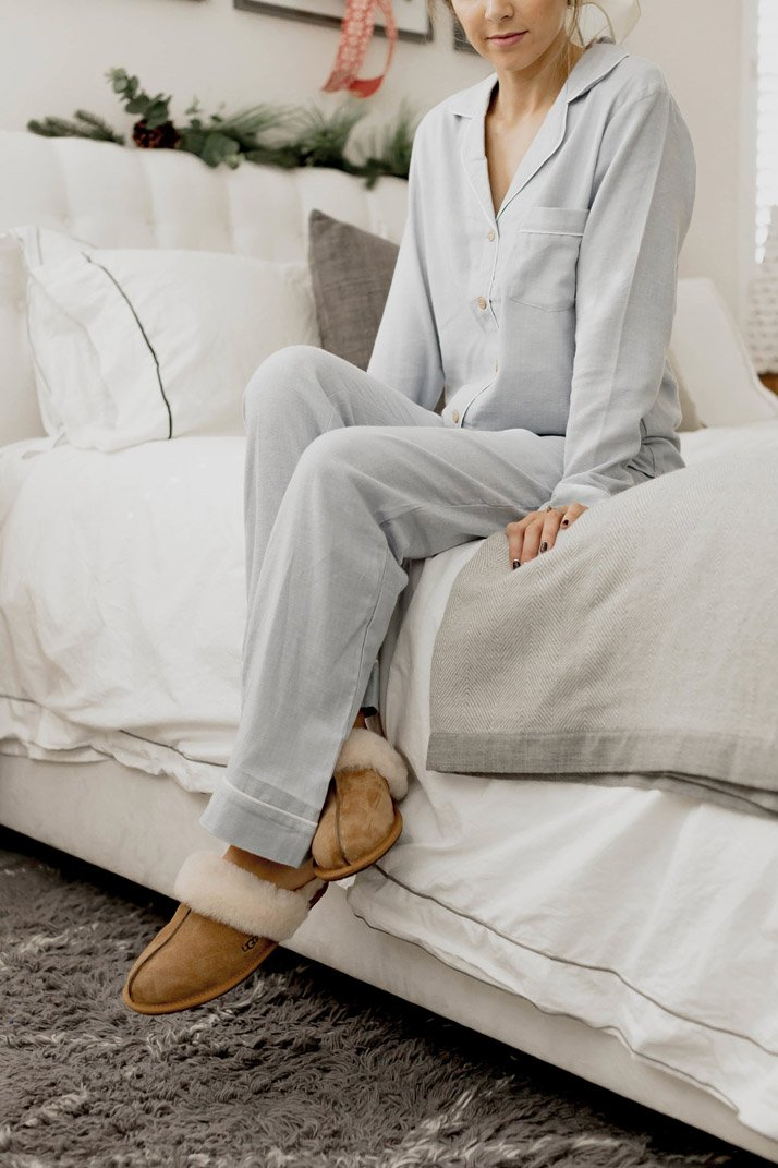 light blue pajamas from Nordstrom