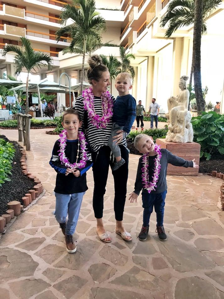 Lobby of the Hyatt Maui Hotel