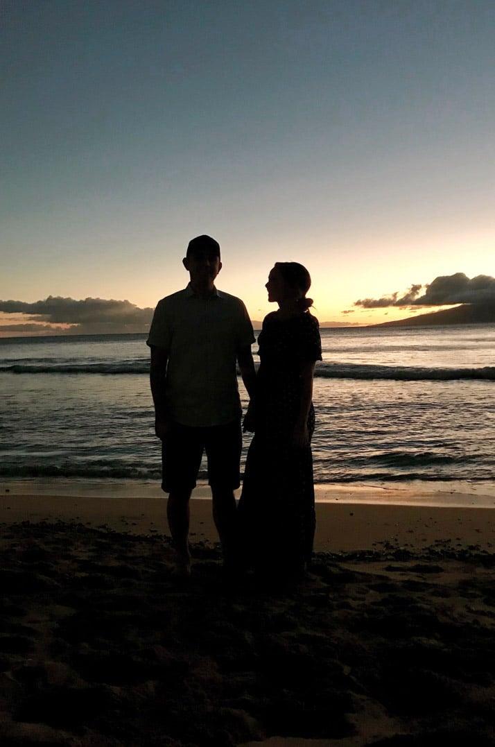 Christmas Eve on the beach in Maui