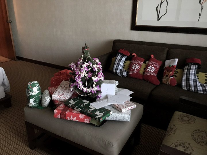 Mini Christmas Tree for a hotel room