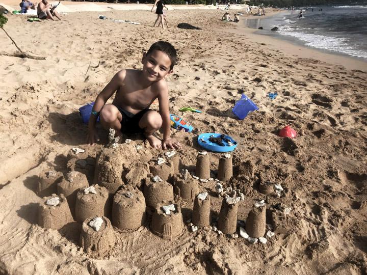 sand castles on hyatt maui property