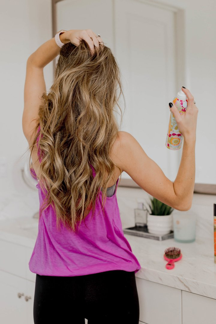 how to revive your hair after you exercise without washing it