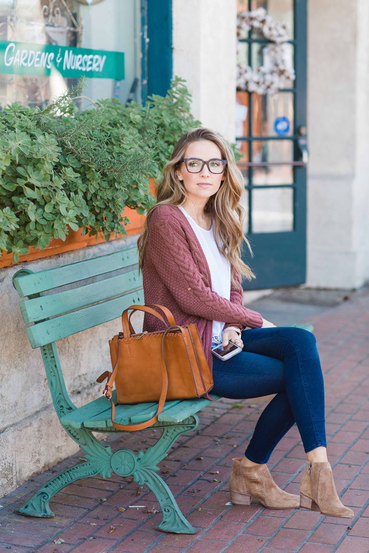 Cozy Sweater and Structured Bag from my Stitch Fix Box