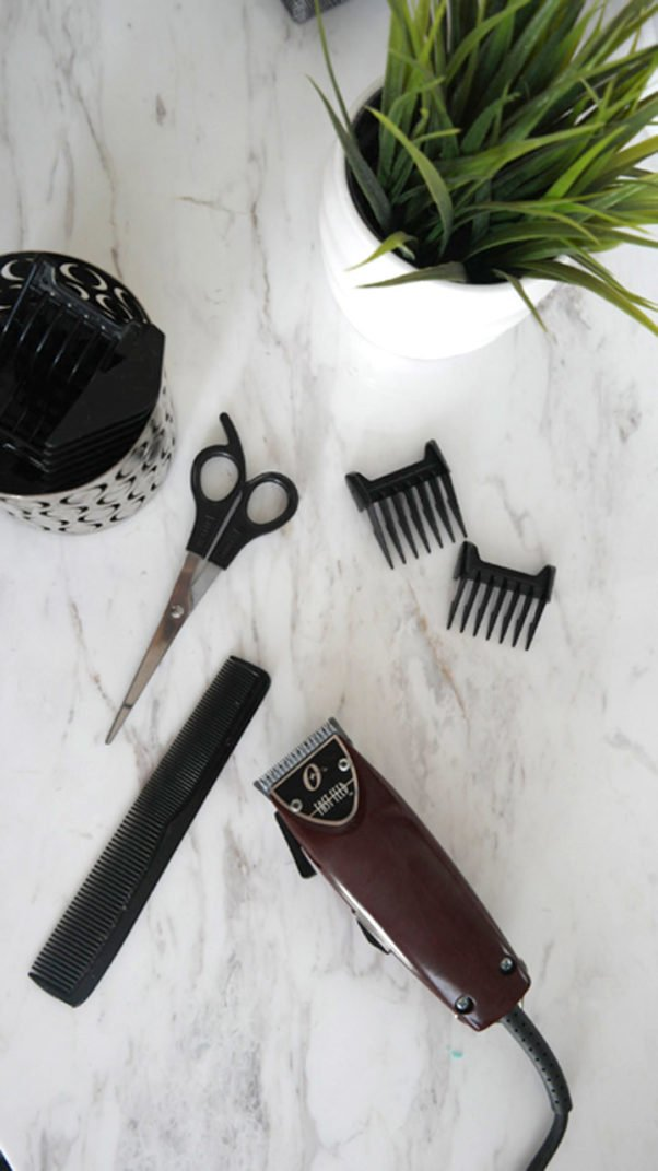 Hair cutting clippers and scissors