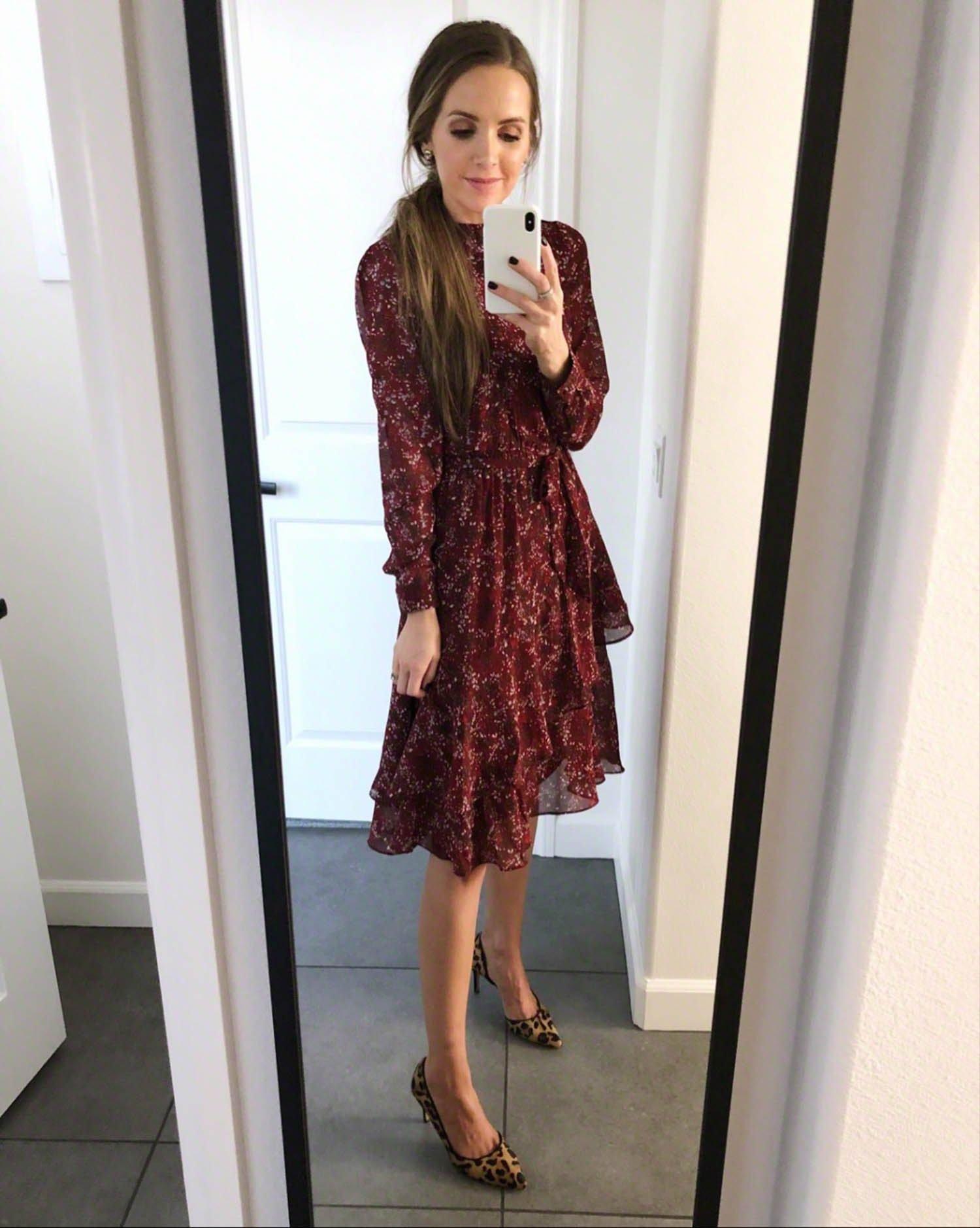 floral dress and leopard heels   merricksart.com