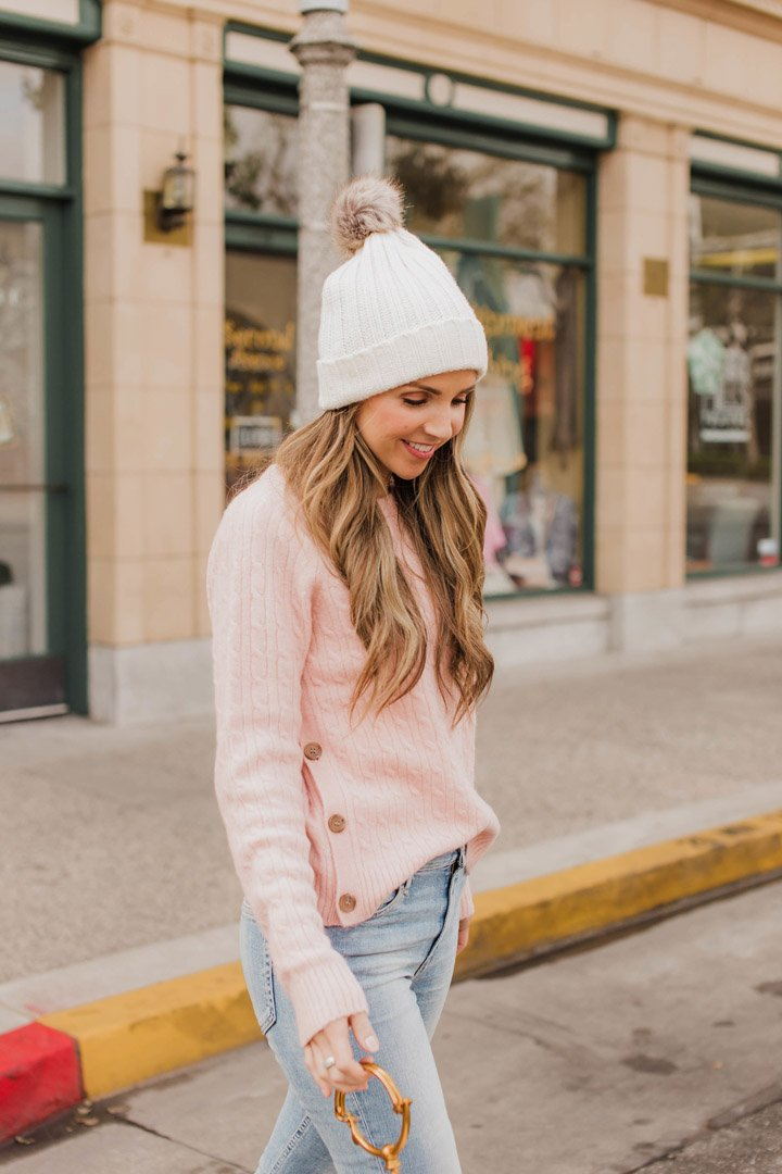 a cozy soft sweater for spring