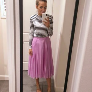 pink plaid skirt