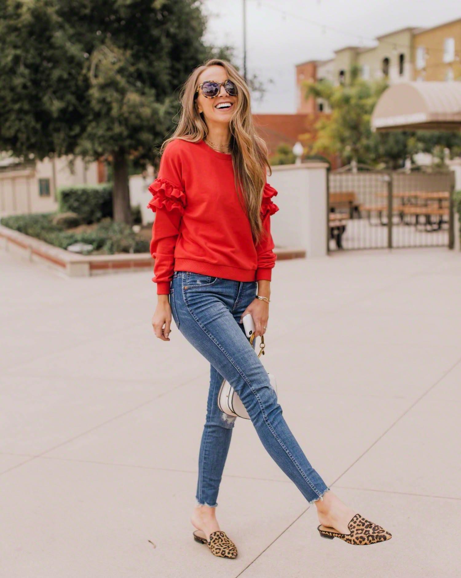 red ruffle sweater | merricksart.com