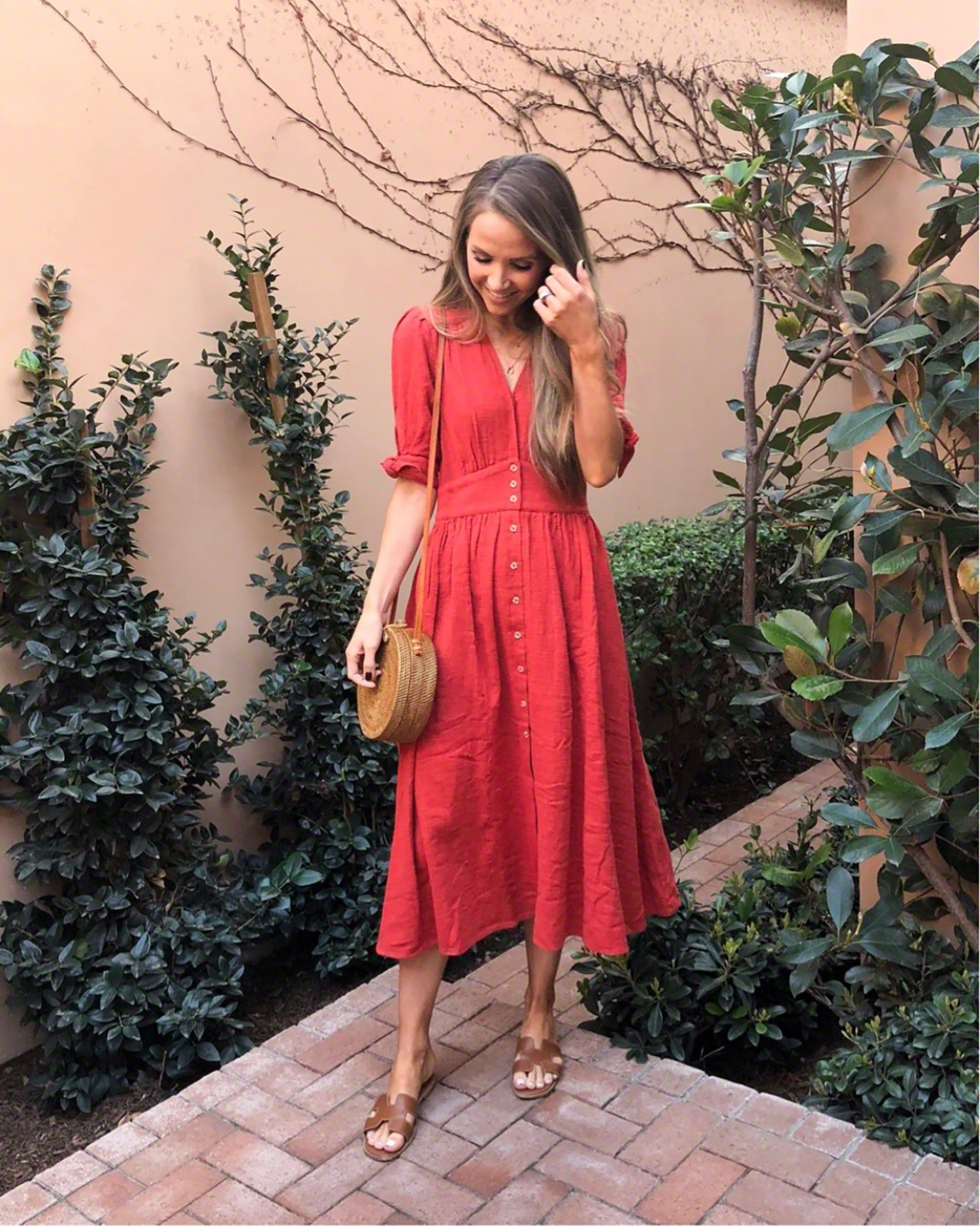 red midi dress   merricksart.com