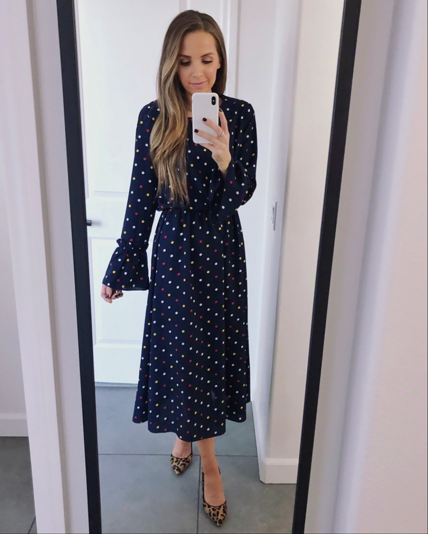 polka dot midi dress | merricksart.com