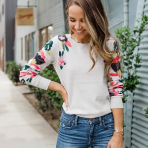 the prettiest graphic floral sweater