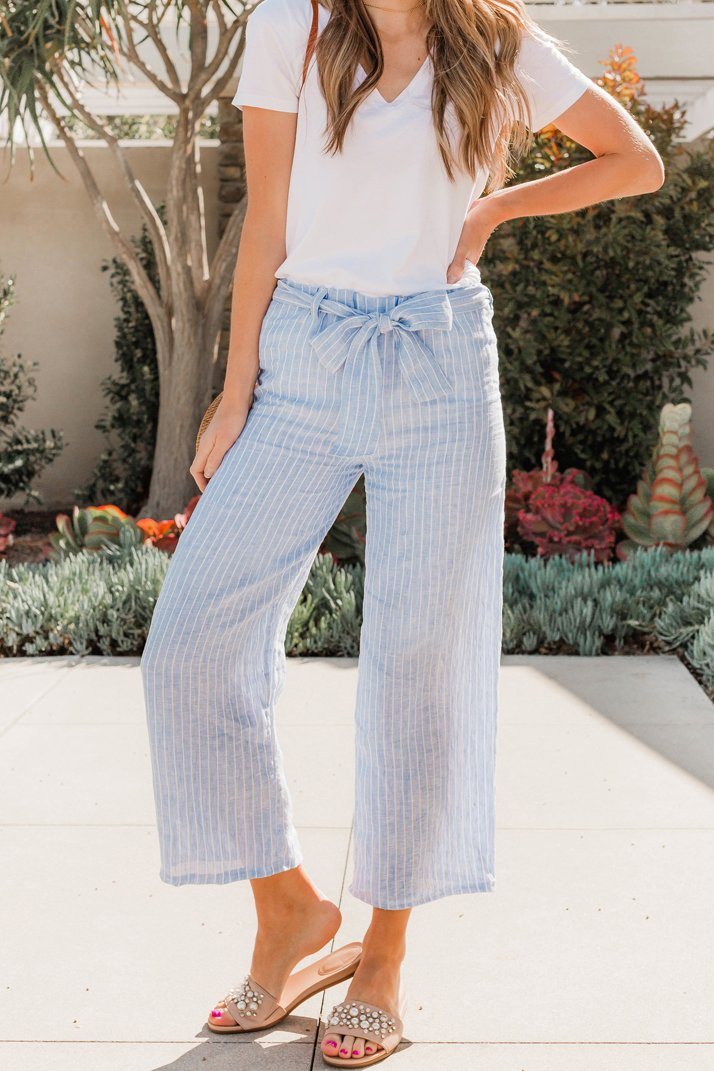 how to sew a pair of linen culottes