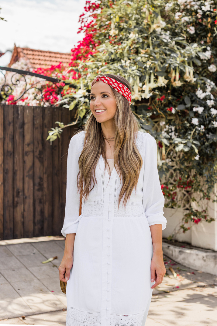 add a head wrap to your hair for an easy summer look!