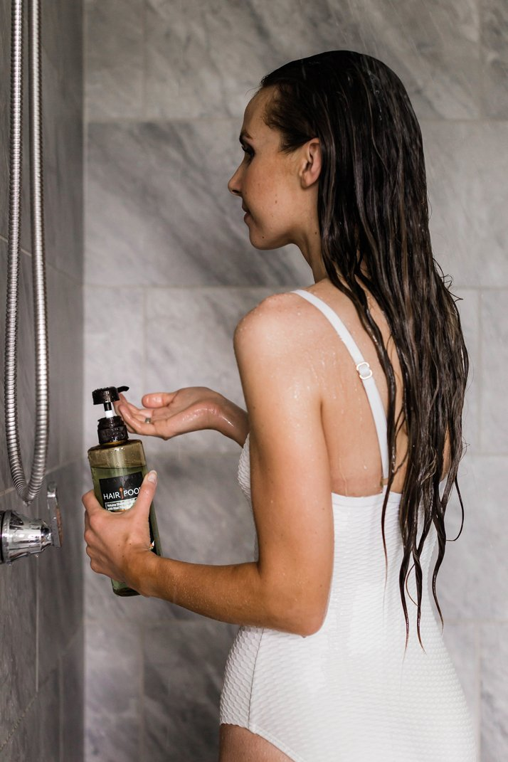 this Shampoo and Conditioner from Hair Food is sulfate, dye, paraben, and mineral oil free - all natural goodness that gives volume and shine!