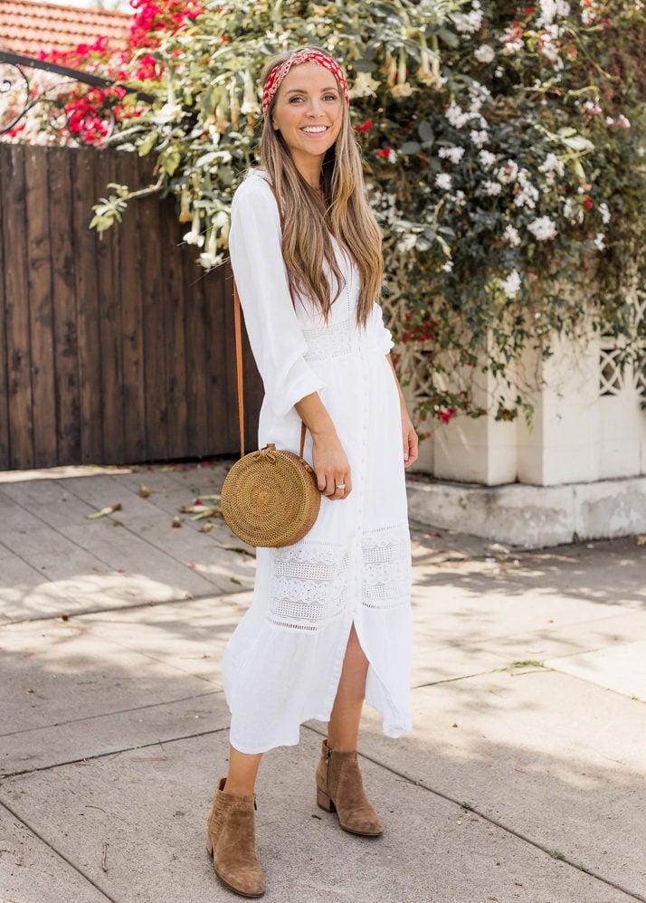 A pretty white dress is a spring essential for everyone's closet!
