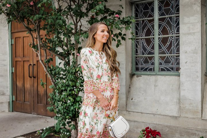 floral maxi dress from asos