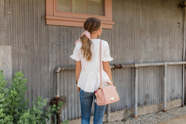 the prettiest white top for summer