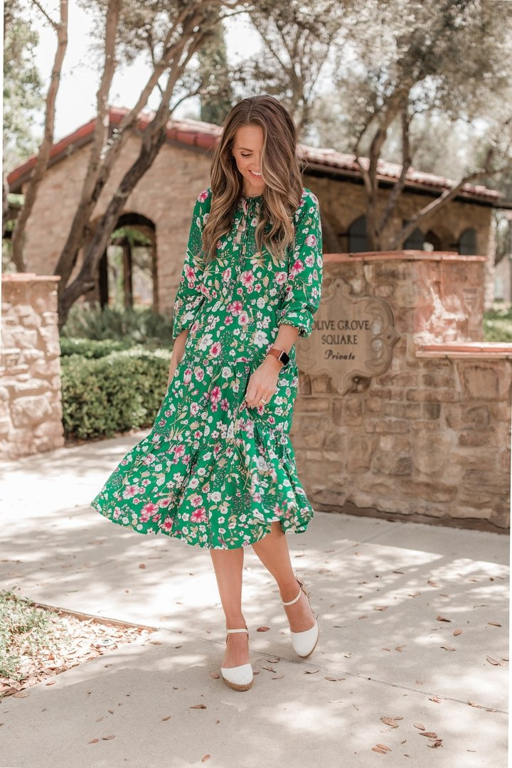 this floral dress is perfect for a summer wedding