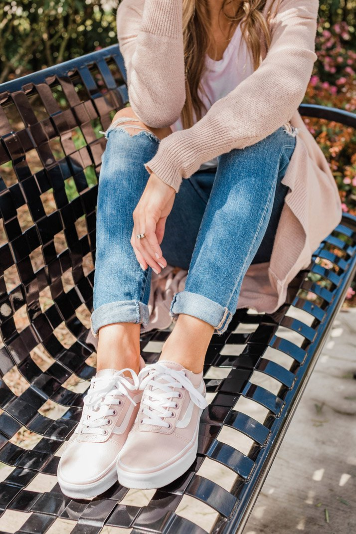 obsessed with these light blush vans!