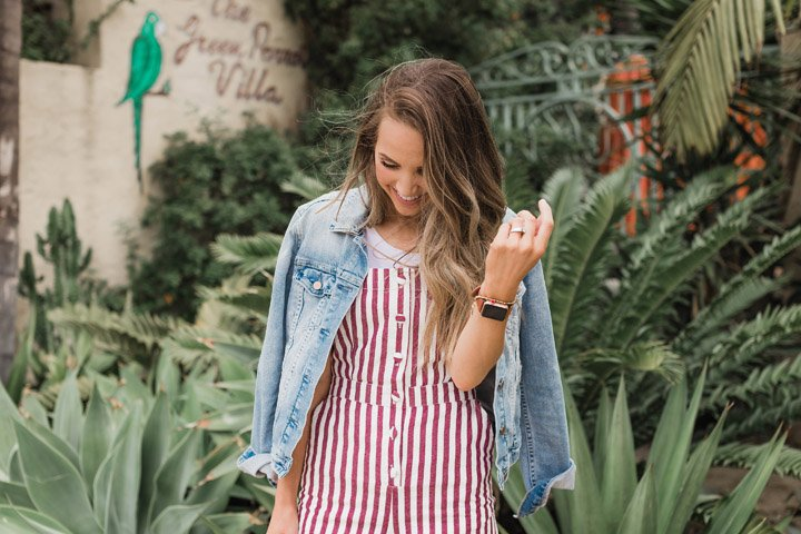 this cute button front jumpsuit is under $30!
