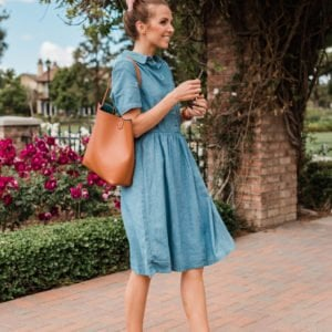 this chambray dress is soft and comfy and so perfect for summer
