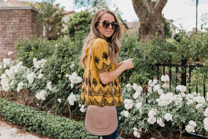 a perfect little embroidered top for spring